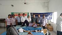 """Blood Donation"" camp by ANITS NSS unit"